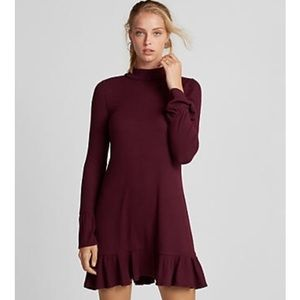 Express Mock Neck Trapeze Dress